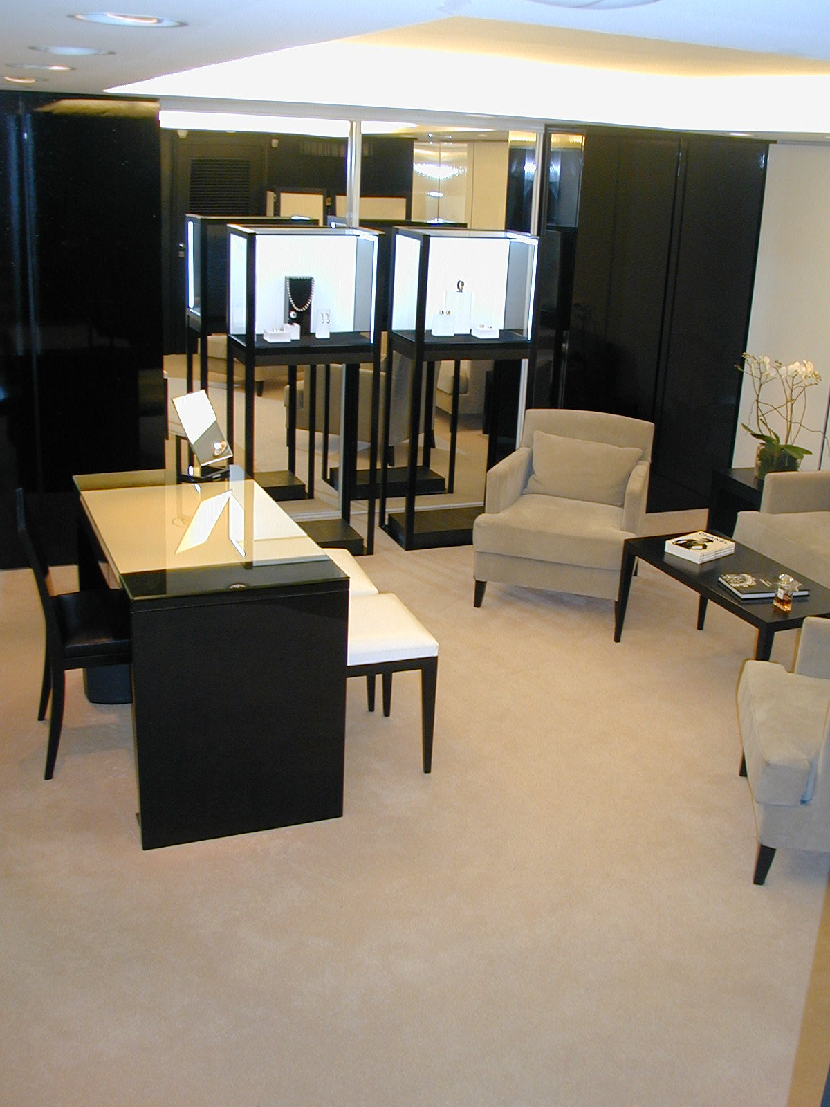 am nagement d une joaillerie chanel cannes atelier meinecke. Black Bedroom Furniture Sets. Home Design Ideas