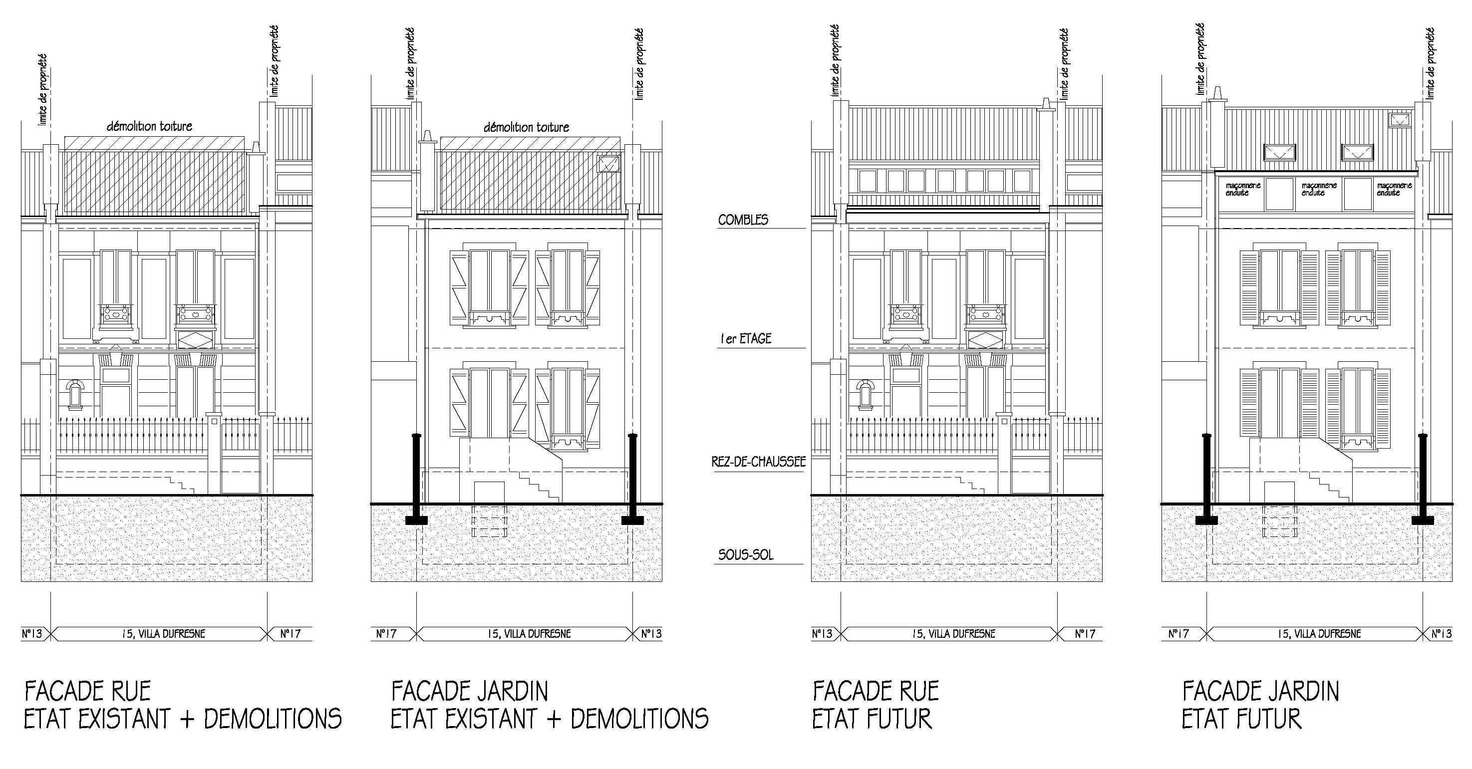 Maisons de ville plans for Plan maison de ville